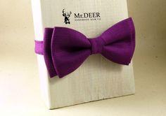 Purple Lilac Violet Bow Tie - Ready Tied Bow Tie - Adult Bow Tie - Mens bowtie - Groomsman, Rustic, Boho Wedding Bow Tie  - Mr.DEER by MrDEERbowtie on Etsy