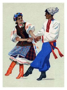 Танцы народов СССР-Открытки 1957 года.. Обсуждение на LiveInternet - Российский Сервис Онлайн-Дневников