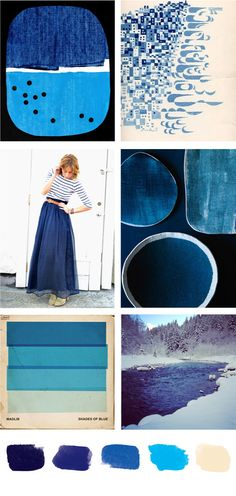 plate & paper: party palette shades of blue