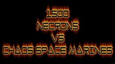 Warhammer 40k Battle Report Necrons vs Chaos Space Marines -FNP Wargamer...