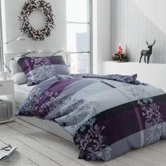 Bavlněné povlečení šedé černé fialové pruhy proužky bordura květiny květy luxusní elegantní Comforters, Blanket, Luxury, Bed, Furniture, Design, Home Decor, Creature Comforts, Quilts