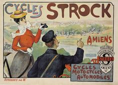 Edwardian Era, Victorian, Automobile, Bicycle Brands, Amiens, Cycling Art, Vintage Bicycles, Belle Epoque, Old Pictures