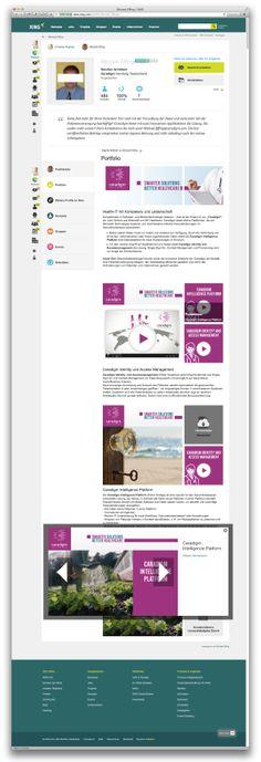 Grafische Ausarbeitung des XING Portfolio für einen Premium Account. Kunde: caradigm Deutschland