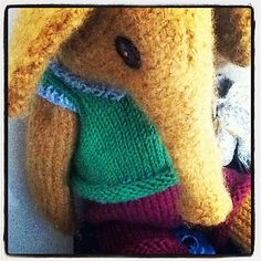 Ravelry: Knitted Bear Friend called Alfie a knitting pattern to make this elephant and all his clothes pattern by Claire Garland