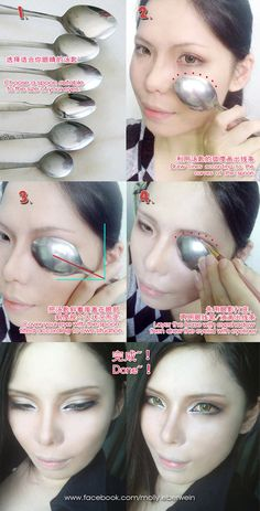 Cosplay Eyes Makeup / Fake double eyelid tutorial by ~mollyeberwein on deviantART