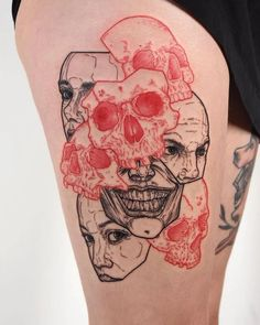 Red Ink Tattoos, Dope Tattoos, Anime Tattoos, Mini Tattoos, Body Art Tattoos, Small Tattoos, Tattoos For Guys, Sleeve Tattoos, Tattos