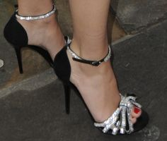 Kylie Minogue Shows Off Legs in Giuseppe Zanotti d'Orsay Sandals