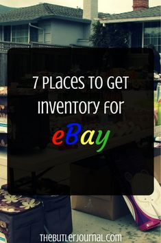 If you followed my blog for a while, you would know that I am an active seller on eBay. There are seven places to get your eBay inventory from.