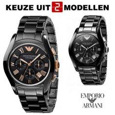 Merk: Emporio Armani  - Collectie: Ceramica  - SALE!! Kies uit twee modellen... Van € 549.00 voor € 249.95... Da's voor minder dan de helft!!