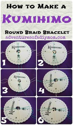 Adventures of a DIY Mom - How to make a Kumihimo Braided Bracelet {or Anklet}