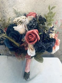 Check out our beautiful new winter wedding bouquets on our Etsy shop today custom orders are welcomed Broach Bouquet, Silk Bridal Bouquet, Rose Wedding Bouquet, Pink Bouquet, Wedding Flowers, Fall Wedding, Wedding Ideas, Winter Bouquet, Winter Wedding Decorations
