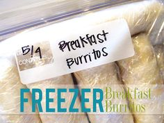 Ive posted about breakfast burritos for the freezer before, but if you know anything about me... you know I cant just leave things alone! But. Im glad I redid these! They are SO good! My husband is loving having big, filling berritos each morning for breakfast! And I love knowing that he isnt eating sugared cereal to start off his day!