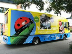 Local mobile library from Leeds in England. The graphics on this are really eyecatching - check out the ladybird!!