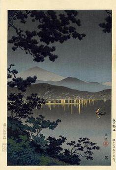 Evening at Atami, c. 1940 by Tsuchiya Koitsu