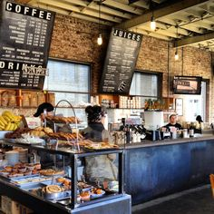 The Filling Station - Union Hill This is a great spot for a quick weekday lunch or a leisurely Sunday morning coffee break. In addition to being a coffee shop, their juice bar has a great selection and their pastries are hard to turn down. The building, which used to be an old gas station, has giant garage doors that they open on nice days.