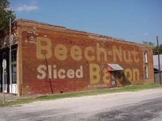 Beech-Nut sliced bacon ghost sign
