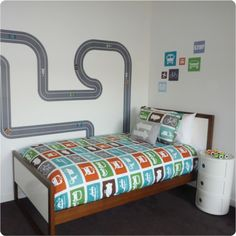 Race track removable wall stickers, so cool.