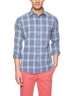 Plaid Sport Shirt by Nick Point at Gilt
