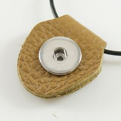 1 Pendant Only - FITS 18MM Candy Snap Charm Brown Leather Jewelry kb0932-p2 CP0081