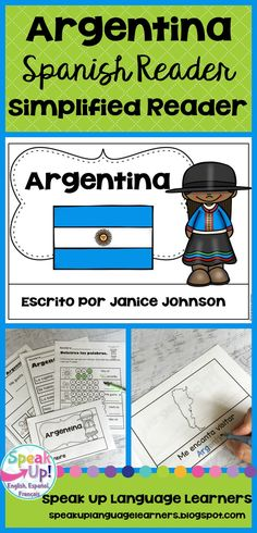 Argentina Reader {en español} & Vocab pages ~ Simplified for Language Learners Educational Activities, Activities For Kids, Dual Language, French Language, Spanish Classroom, Classroom Ideas, Spanish Speaking Countries, Spanish Culture, Emergent Readers