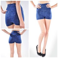 Acid shorts blue, $21.00 by Appealing Boutique