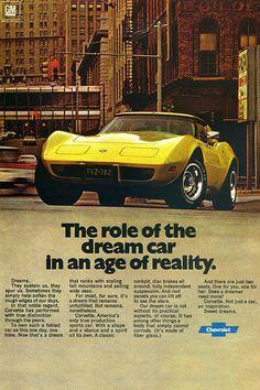 1977 Chevrolet Corvette-Your Dream Car Becomes Reality-Original Magazine Ad-Auto 1976 Corvette, Chevrolet Corvette, Chevy, Corvette Summer, Chevrolet Malibu, Rat Rods, Buick, Convertible, Classic Chevrolet