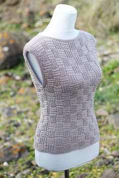 KNITTING PATTERN for women – Pebble summer top, clothing patterns – Pdf listing 35 – Knitting patterns, knitting designs, knitting for beginners. Summer Knitting Projects, Loom Knitting For Beginners, Loom Knitting Projects, Crochet Vest Pattern, Top Pattern, Kids Knitting Patterns, Pulls, Clothing Patterns, Couture