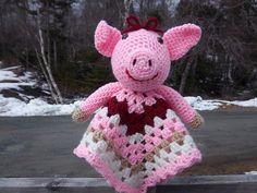 $4.50--Ravelry: Piggy Lovey/Security Blanket pattern by Jo-Anne Wilkes-Baker