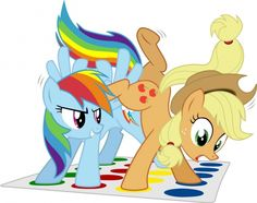 Rainbow Dash & AppleJack Plus