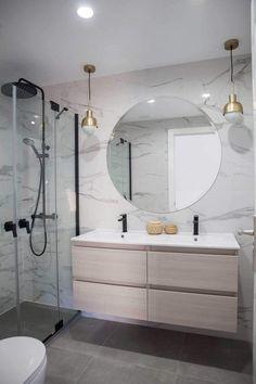 Small Bathroom Ideas On A Budget, Budget Bathroom, Modern Bathroom Design, Bathroom Interior Design, Bathroom Renovations, Small Bathrooms, Remodel Bathroom, Mirror Bathroom, Master Bathrooms