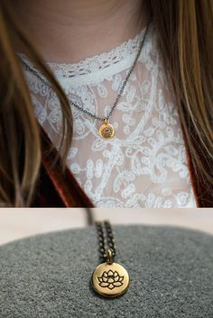 One of my favorite sayings is: No mud, no lotus. My hope is that this necklace reminds you that the tough stuff in your life becomes compost for all the goodness that blooms within. ::: The Soul Mantra jewelry collection is filled with talismans to carry with you on your journey.
