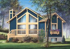 <!-- Generated by XStandard version 2.0.0.0 on 2013-09-03T16:15:31 -->    <ul>  <li>Escape from it all to this one bedroom retreat suited for the mountains or lake or beach.</li>  <li>Light streams in from the two-story windows that brighten the main living area.</li>  <li>Two sliding glass doors open to the large deck.</li>  <li>A handy laundry closet keeps things running smoothly.</li>  <li>The home's small size makes it easy to take care of.</li>  </ul>