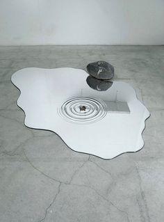 Melting Mirrors -  Mizukagami Water mirrors designed  Rikako Nagashim and acrylic designer Hideto Hyoudou