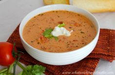 Tomato Basil Soup - when you have fresh tomatoes and fresh basil, what else would you do but make fresh soup!
