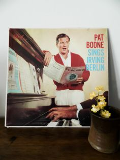 Vintage 1950s Vinyl Record Pat Boone Sings Irving by AlleysUniques, $6.50