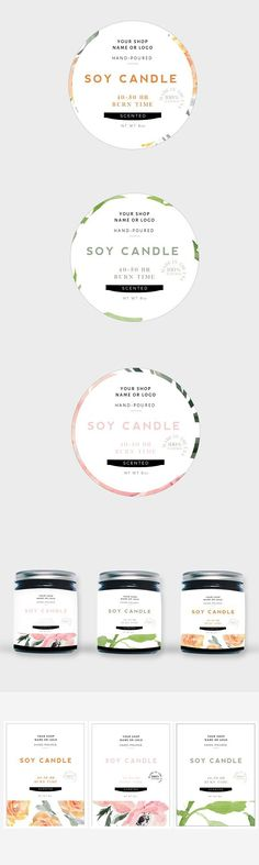 Handmade Soy Candles Label Template Creative Brochure Templates - packing label template