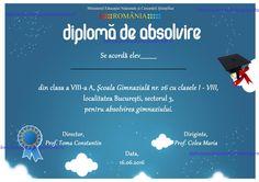 d diploma de absolvire liceu semipersonalizata model jpg  c205 diploma semipersonalizata absolvire cl v viii model
