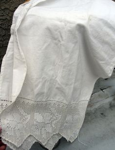 Vintage French Linen Table Runner by frenchhouse on Etsy / I love the clean, crispness of white linen.