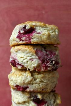 Fresh Cranberry and Meyer Lemon Biscuits - from Joy the Baker. I think I am in love!