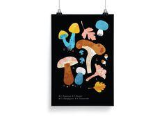 Botanika Poster – Chantarelle | Darling Clementine