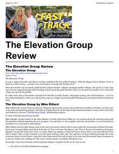 An honest review of The Elevation Group. A simple, genuine ...