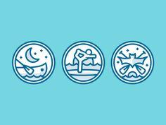 paddle badges // gif