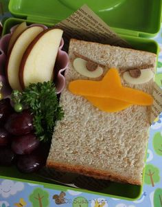 Phineas and Ferb LUNCH ideas!!  My kids would never eat all that goes into these awesome lunches, but HOW AWESOME!