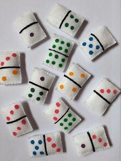 Indoor hopscotch for Megs Kids Crafts, Felt Crafts, Diy And Crafts, Craft Projects, Arts And Crafts, Fabric Toys, Felt Fabric, Felt Patterns, Sewing Patterns