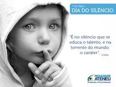#diadosilencio #criandovalores #faculdadeateneu