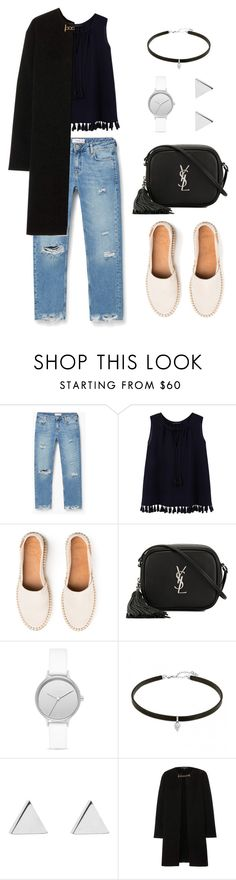 """..."" by everyoutfit ❤ liked on Polyvore featuring MANGO, Violeta by Mango, Yves Saint Laurent, Skagen, Jennifer Meyer Jewelry and Burberry"