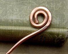Simple Spiral Copper Hair Stick, Shawl Pin - Long Hair Accessory - Hair Toy, Bun Holder, Knitting, Women