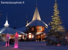 Christmas House in Santa Claus Holiday Village in Rovaniemi in Finnish Lapland
