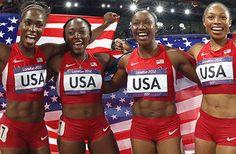 US women break 4 X 100 world record