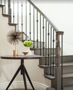 Love the iron on staircase